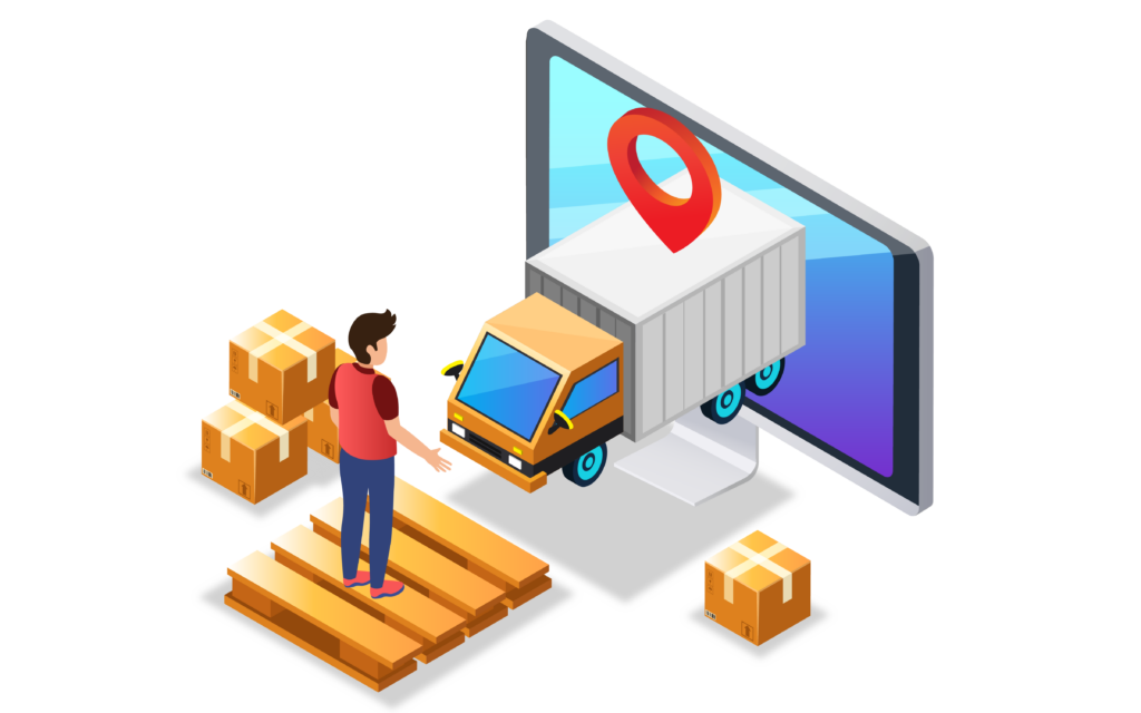 Tracking and sending shipments through computer