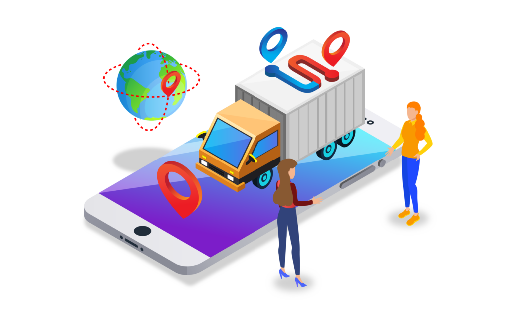 Showing shipping location on a cell phone
